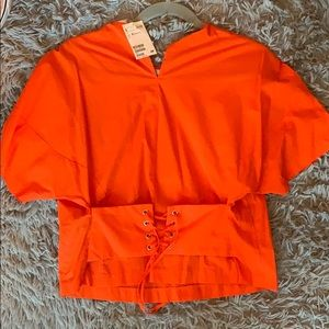 Orange Corset Shirt